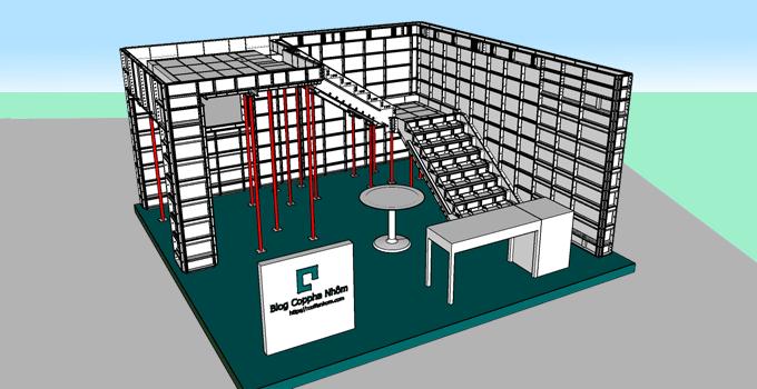 Mô Hình 3D Cốp Pha Nhôm (AutoCAD, SketchUP)