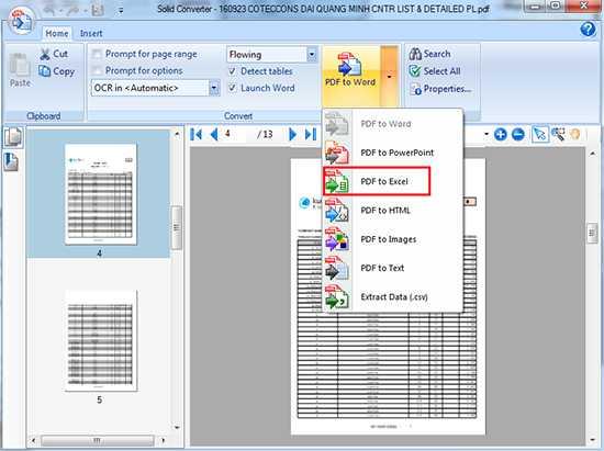 Phần mềm chuyển Packing List từ PDF sang Excel nhanh chóng chính xác 2
