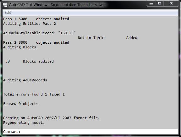Autocad không thể lưu về định dạng dxf
